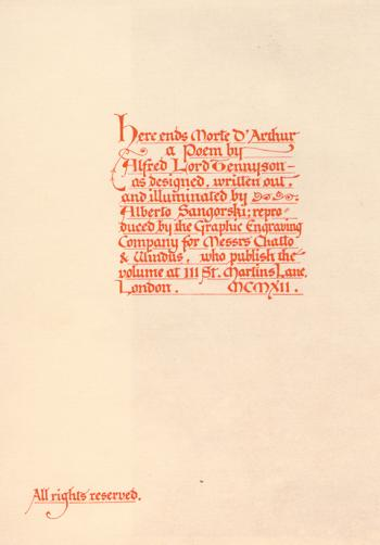 Here ends Morte D'Arthur [Colophon]