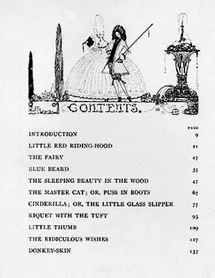 Table of Contents (Perrault)