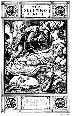 """Frontispiece of The Sleeping Beauty."""