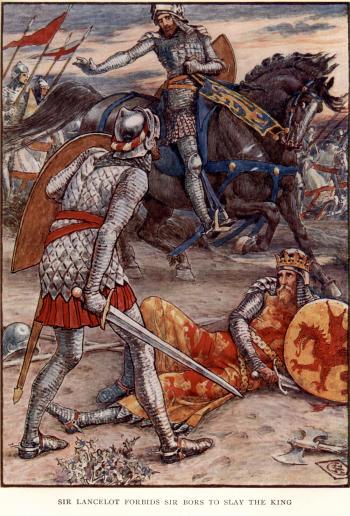 Sir Lancelot Forbids Sir Bors to Slay the King