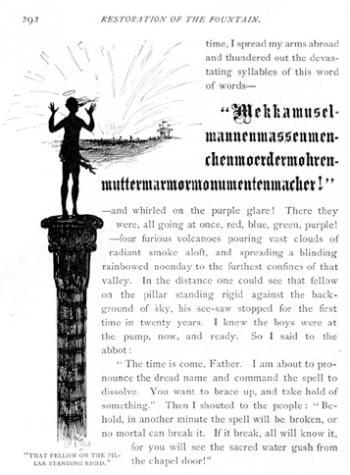 """That Fellow on the Pillar, Standing Rigid"""