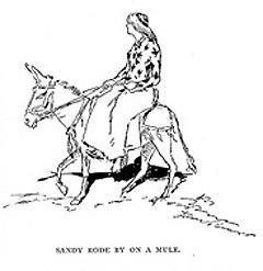 Sandy Rode by on a Mule