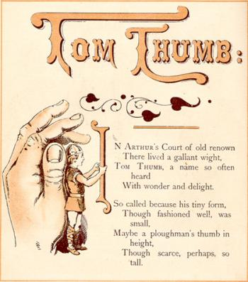 Maybe a ploughman's thumb in height