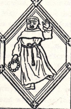 """Friar,"" excerpt of the Betley Window"