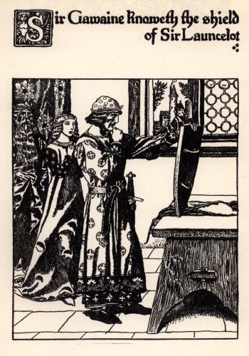 Sir Gawaine Knoweth the Shield of Sir Launcelot