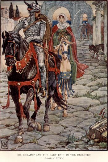 Sir Geraint and the Lady Enid in the Deserted Roman Town