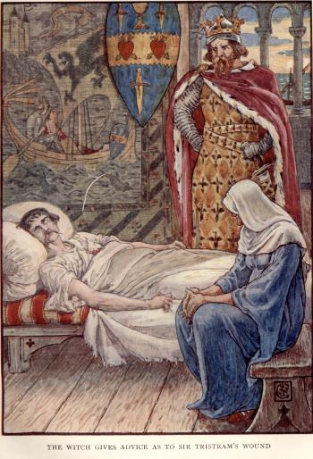 The Witch Gives Advice as to Sir Tristram's Wound