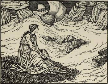 """""""Thanne wolde she sitte adoun upon the grene, And pitously into the see biholde..."""""""