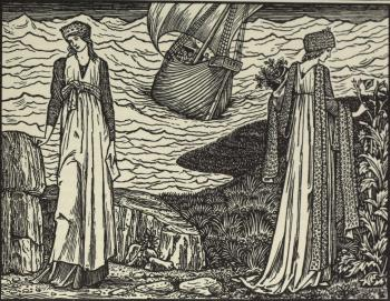 """""""...And drow his sail, and saw her nevermo."""""""