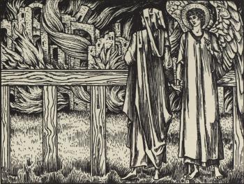 """""""Ther he was slayn, his loking doun he caste; And in himself he lough right at the wo..."""""""