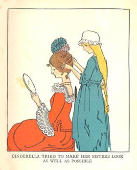 """""""Cinderella tried to make her sisters look as well as possible."""""""