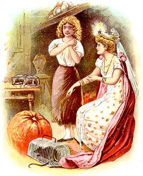 """She brought a big pumpkin from the garden, two fine rats, six mice and six lizards."""