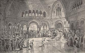 The Great Hall, Camelot. Act I.