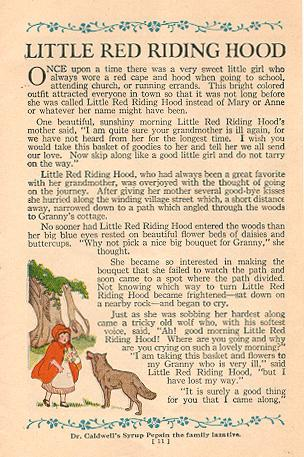 """""""Little Red Riding Hood."""""""