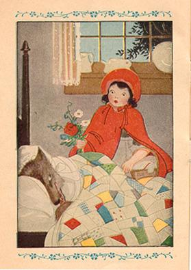 """Red Riding Hood examines the appearance of """"Granny."""""""