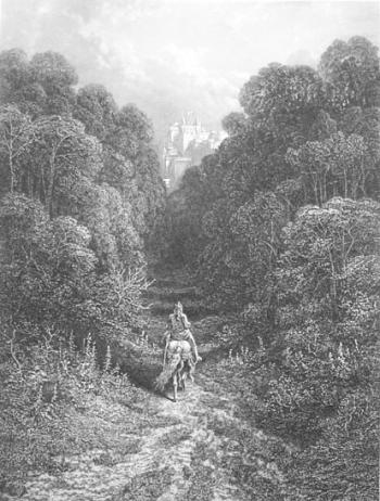 Lancelot Approaching the Castle of Astolat