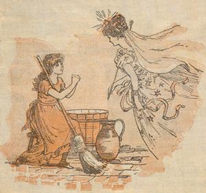 """""""Her godmother, who was a Fairy, came to her...."""" (color)"""