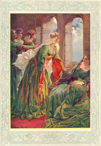 The Queen and her Maidens watch for Sir Lancelot
