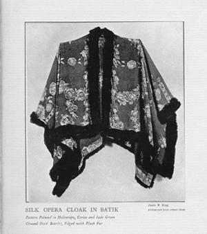 """""""Silk Opera Cloak in Batik."""""""