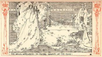The Graal Appeareth to Messire Gawain at the Feast