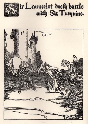 Sir Launcelot doeth Battle with Sir Turquine