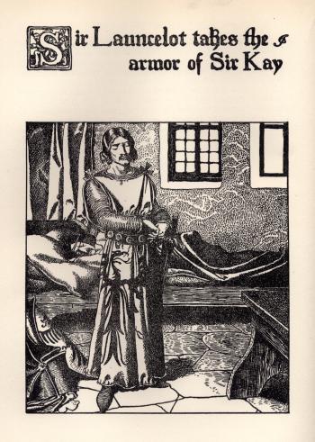 Sir Launcelot Takes the Armor of Sir Kay