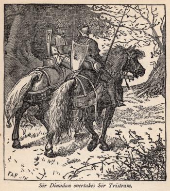 Sir Dinadan Overtakes Sir Tristram