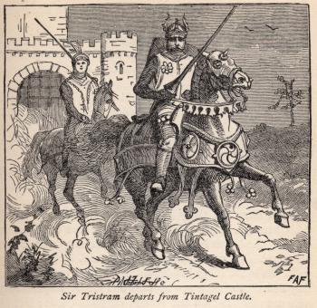 Sir Tristram Departs from Tintagel Castle