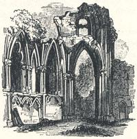 "Part of the Church of St. Mary's Abbey, York, Tailpiece to ""A True Tale of Robin Hood"" by Martin Parker"