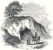 "Robin Hood's Stable, A Cave Excavated in the Rock at Paplewick, in Nottinghamshire, Headpiece to ""Robin Hood's Chase"""
