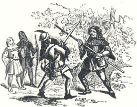 "Robin Hood and the Beggar Fighting, Headpiece to ""Robin Hood and the Beggar"""