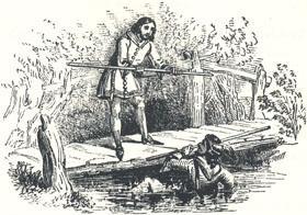 "The Bridge Scene, Headpiece to ""Robin Hood and Little John"""