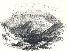 "View of Robin Hood's Hill, Headpiece to ""Robin Hood and the Valiant Knight"""