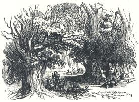 "Woodland Scenery, Headpiece to ""The Song of Robin Hood and His Huntes-Men"""