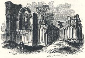 "Ruins of Saint Mary's Abbey, York, Headpiece to ""A True Tale of Robin Hood"" by Martin Parker"